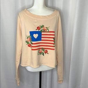 Wildfox American Flag Sweatshirt